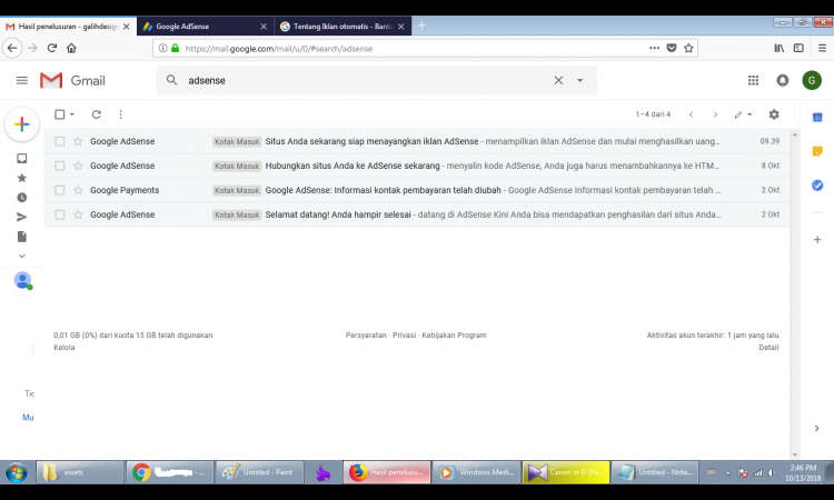 WTS Adsense Non Host Full Approve + Website domain COM