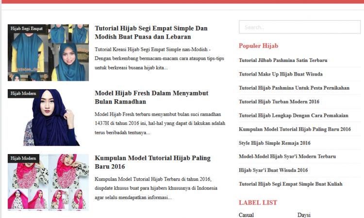 Lelang Cepat Murah Blog Style / Hijab Hanya $10