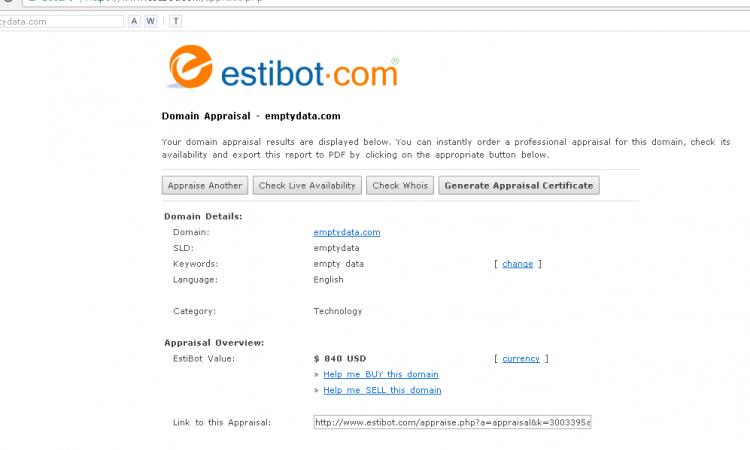 . (LELANG) Domain Premium : www.emptydata.com (siapa cepat dia dapat)
