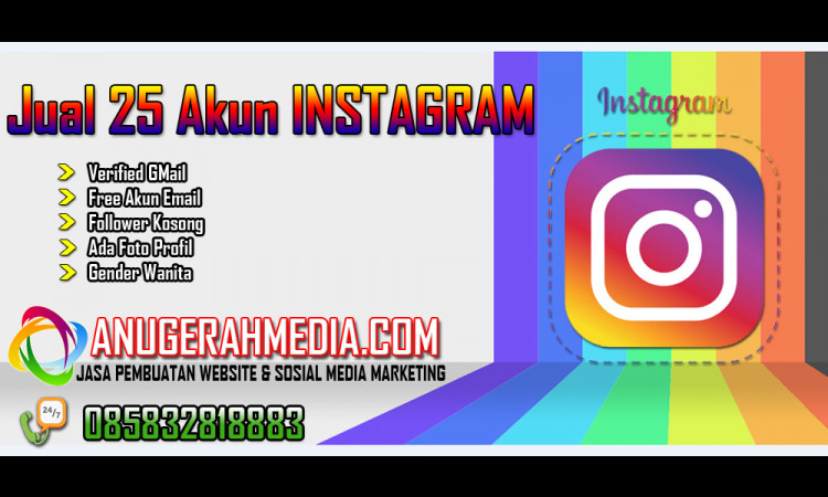 25 Akun Instagram Verif gMail