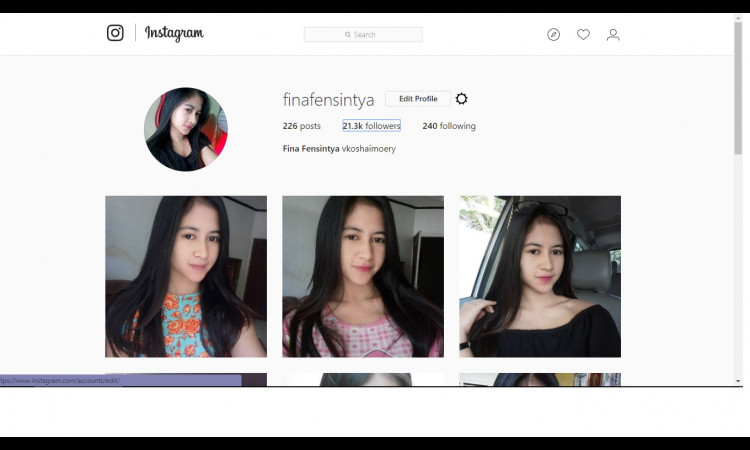 FS AKUN INSTAGRAM 21.3K  EX.Selebgram REAL FOLLOWERS INDONESIA BU